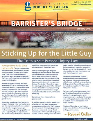 Tampa Bankruptcy Lawyer Newsletter 2017